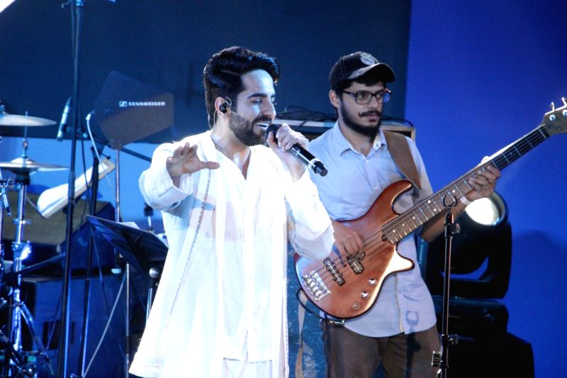 Actor Ayushmann Khurrana during film Meri Pyaari Bindu music concert in Mumbai on May 6, 2017. - Ayushmann Khurrana
