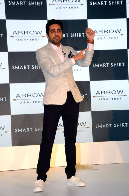 Actor Ayushmann Khurrana during the launch of Arrow Smart Shirt, in Mumbai, on Aug. 9, 2016. - Ayushmann Khurrana