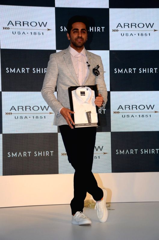 Actor Ayushmann Khurrana during the launch of Arrow Smart Shirt, in Mumbai, on Aug. 9, 2016. - Ayushmann Khurrana