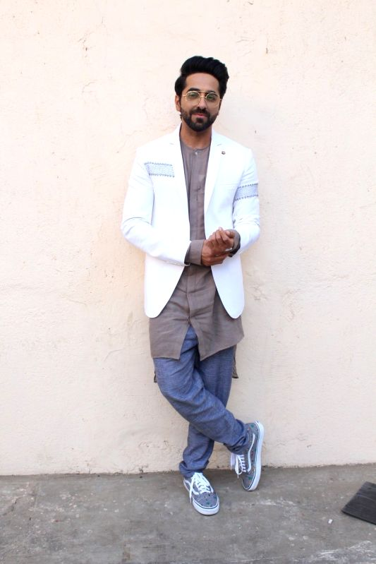 "Actor Ayushmann Khurrana during the promotion of upcoming film ""Meri Pyari Bindu"" on the sets of Nach Baliye Season 8 on May 2, 2017. - Ayushmann Khurrana"