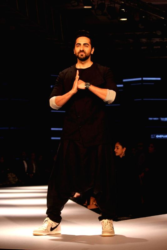 Actor Ayushmann Khurrana during the Van Heusen GQ Fashion Nights 2015 Day 2 in Mumbai on Dec 2, 2015. - Ayushmann Khurrana