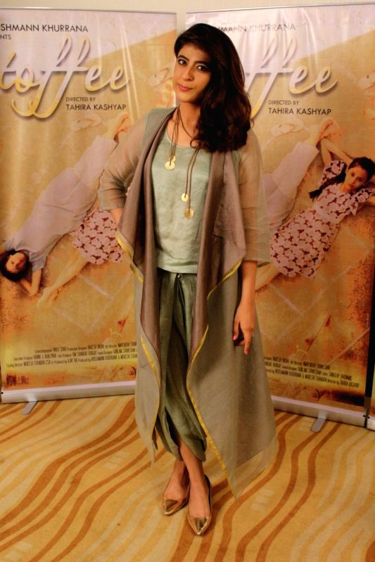 """Actor Ayushmann Khurrana's wife Tahira Kashyap during an interview for film """"Toffee"""" in Mumbai on Oct 12, 2017. - Ayushmann Khurran and Tahira Kashyap"""