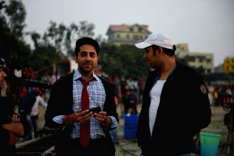 Actor Ayushmann Khurrana with writer-turned-director Raaj Shaandilyaa.
