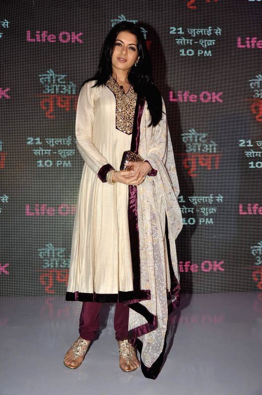 Actor Bhagyashree Patwardhan will return to the small screen with Life OK`s new offering Laut Aao Trisha in Mumbai on July 16, 2014. - Bhagyashree Patwardhan