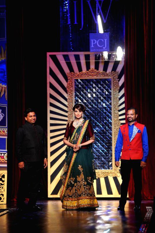 Actor Bipasha Basu during the grand finale of India International Jewellery Week (IIJW) in Mumbai on July 17, 2014.