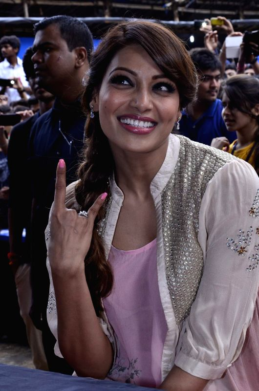 Actor Bipasha Basu promotes her upcoming film Creature 3D during the Umang 2014 festival in Mumbai on Aug. 16, 2014.