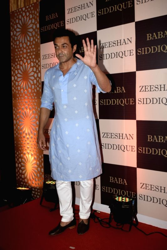Actor Bobby Deol at politician Baba Siddique's iftar party in Mumbai on June 10, 2018. - Bobby Deol