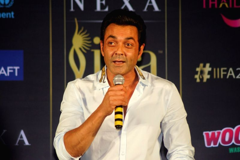 Actor Bobby Deol during a press conference of the 19thEdition of IIFA in Mumbai on June 12, 2018. - Bobby Deol