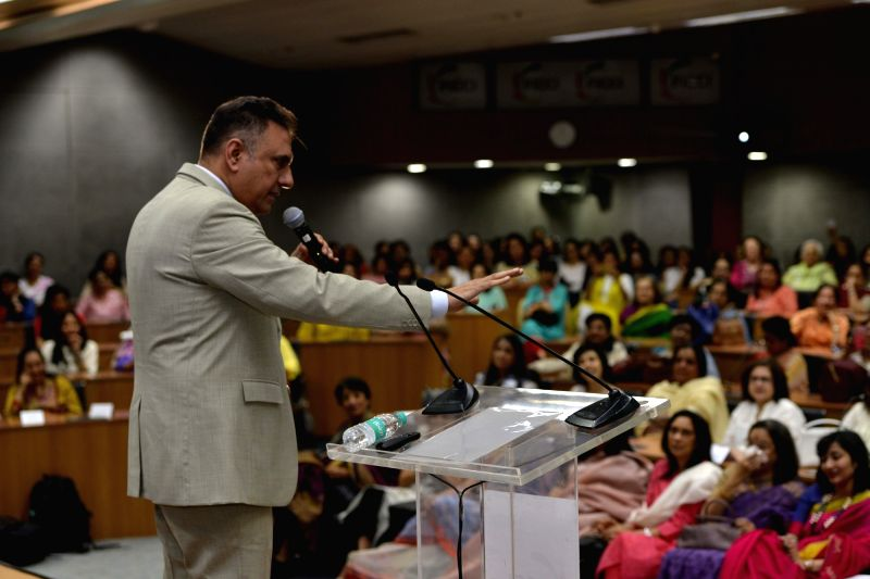 Actor Boman Irani addresses during a FICCI FLO programme in New Delhi on May 5, 2017. - Boman Irani