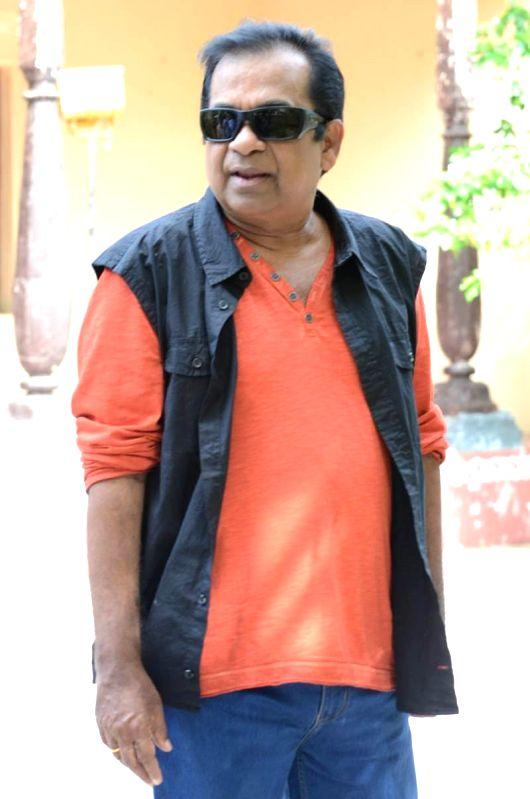 Actor Brahmanandam talking about telugu movie Alludu Seenu. (Photo: IANS).