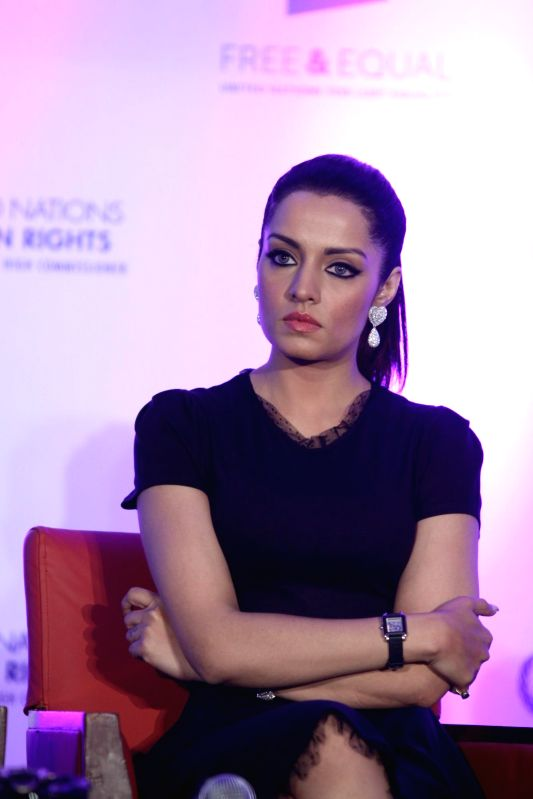 Actor Celina Jaitly during the launch of United Nations (UN) Free and Equal campaign music video for lesbian, gay, bisexual and transgender (LGBT) equality in Mumbai on April 30, 2014. - Celina Jaitly