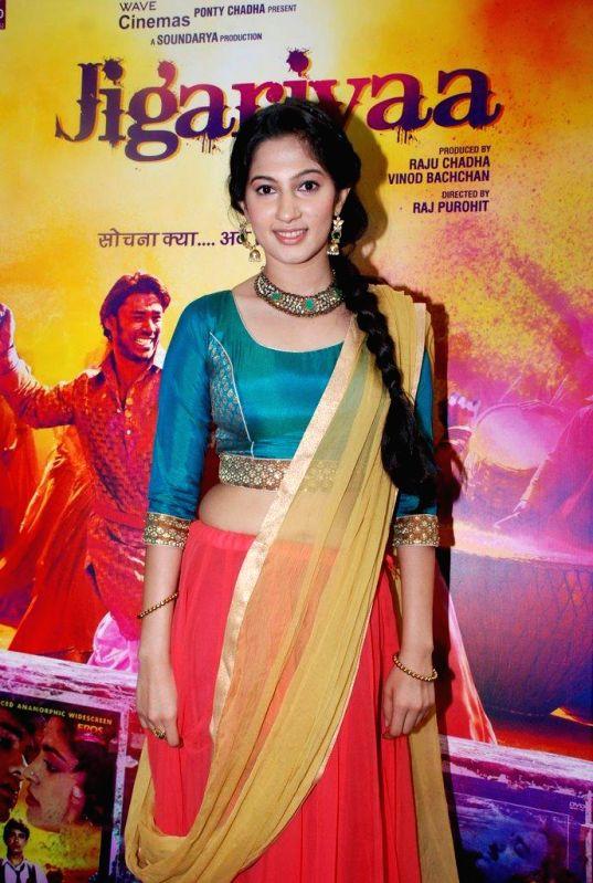 Actor Cherry Mardia during the trailer launch of film Jigariyaa, in Mumbai, on Aug. 26, 2014. - Cherry Mardia