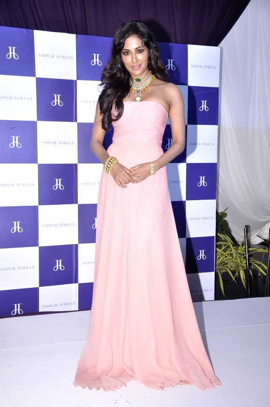 Actor Chitrangda Singh during the Promotes Jaipur Jewels on napeansea road in Mumbai on Aug 11, 2014.