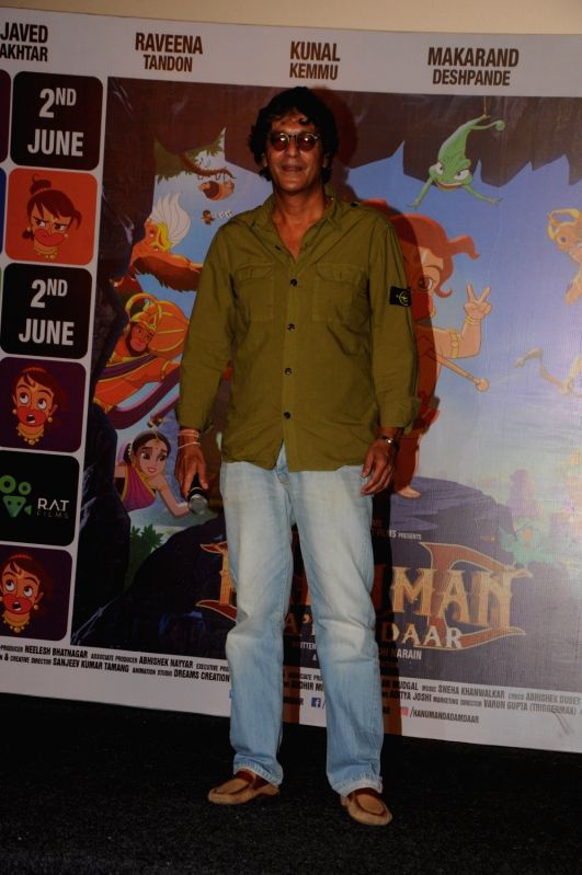 Actor Chunkey Pandey during the song launch of Lakdi Ki Kathi from the film Hanuman Da' Damdaar in Mumbai, on May 18, 2017. - Chunkey Pandey