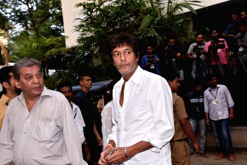 Shashi Kapoor's condolence meet - Chunky Pandey and Shashi Kapoor
