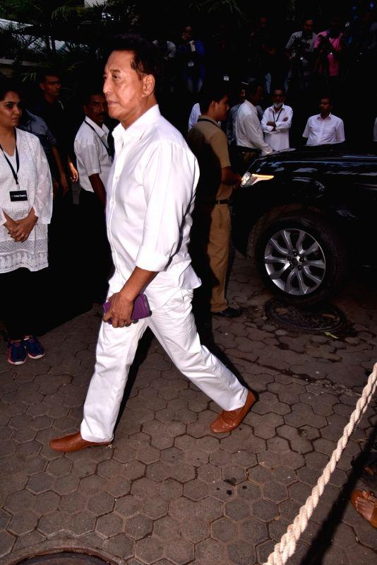 Shashi Kapoor's condolence meet - Danny Denzongpa and Shashi Kapoor