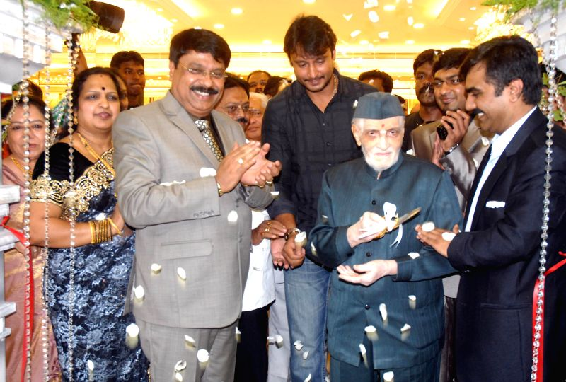 Actor Darshan during inauguration of a jewellery showroom in Bangalore on June 29, 2014.