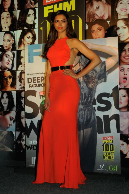 Actor Deepika Padukone during the Gionee FHM 100 Sexiest Women in the World 2014 Party in Mumbai on July 2, 2014. - Deepika Padukone
