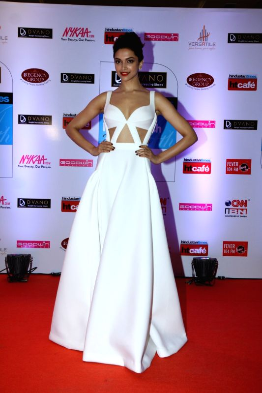 Actor Deepika Padukone during the Hindustan Times Mumbai`s Most Stylish 2015 Awards in Mumbai, on March 26, 2015. - Deepika Padukone