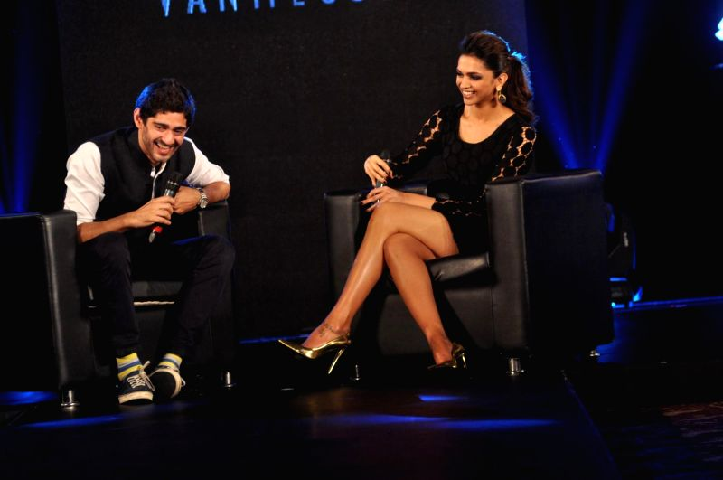 Actor Deepika Padukone during the launch of Van Heusen Spring Summer 2014 limited edition collection in Mumbai, on April 10, 2014.