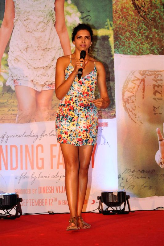 Actor Deepika Padukone during the song launch of film Finding Fanny in Mumbai on August 11, 2014. (IANS: Photo) - Deepika Padukone