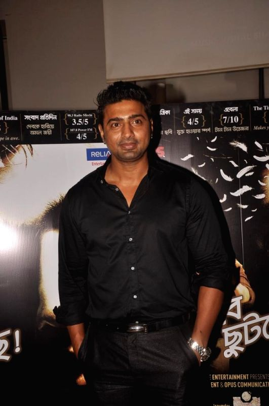 Actor Dev Adhikari during special screening of Bengali film Buno Haansh in Mumbai. - Dev Adhikari