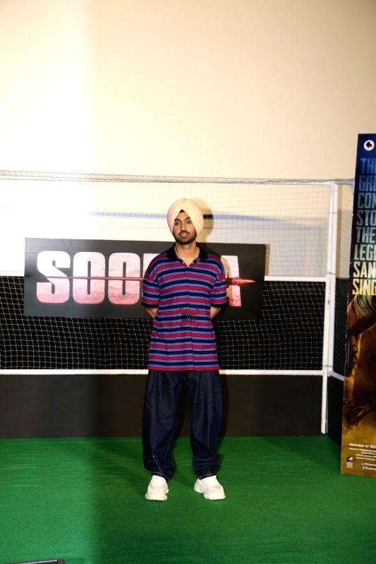 """Actor Diljit Dosanjh at the trailer launch of his upcoming film """"Soorma"""" in Mumbai on June 11, 2018. - Diljit Dosanjh"""
