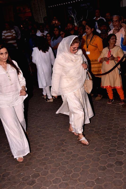 Shashi Kapoor's condolence meet - Dimple Kapadia and Shashi Kapoor