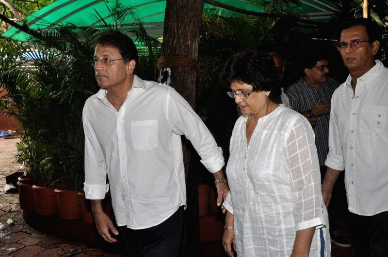 Actor director Arun Govil during the condolence meet of filmmaker Dharmesh Tiwari in Mumbai, on August 9, 2014.