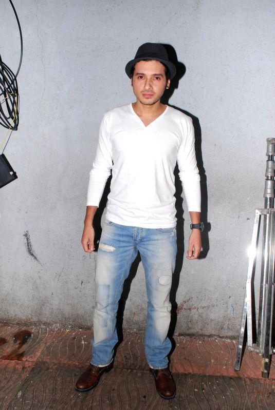 Actor Divyendu Sharma during the promotion of film Ekkees Toppon Ki Salaami at Udaan 2014 in Mumbai, on Aug. 17, 2014. - Divyendu Sharma