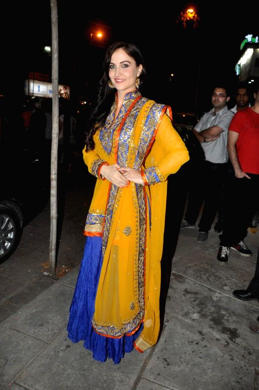 Actor Elli Avram during the launch of store Grand Trunk Show in Mumbai, on April 18, 2014. - Elli Avram