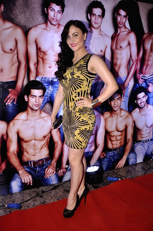 Actor Elli Avram during the Provogue Mr India 2014 finale in Mumbai, on May 8, 2014. - Elli Avram