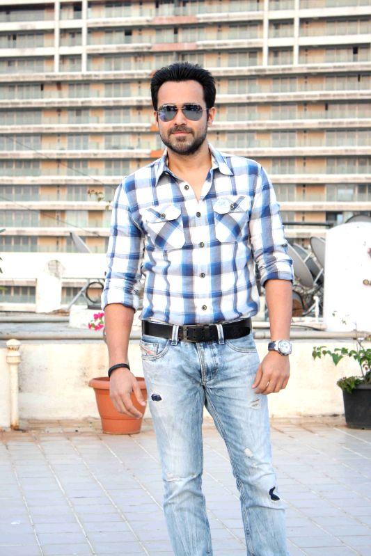 Actor Emraan Hashmi celebrates his 36th birthday in Mumbai  on March 24 , 2015.