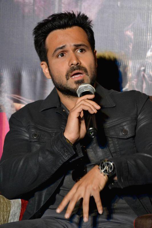 Actor Emraan Hashmi during a press meet of his upcoming film `Ungli` in New Delhi on Nov. 25, 2014. - Emraan Hashmi