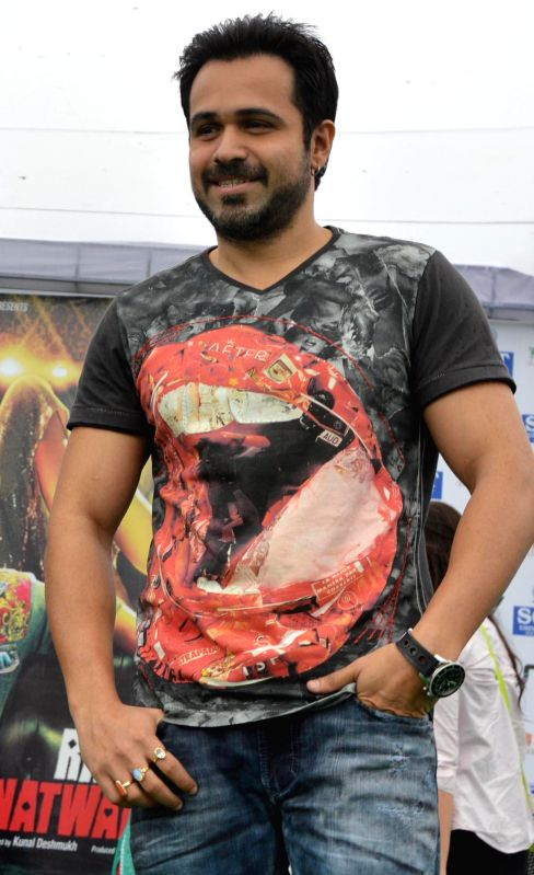 Actor Emraan Hashmi during a programme organised to promote his upcoming film Raja Natwarlal in Gurgaon on Aug 29, 2014. - Emraan Hashmi