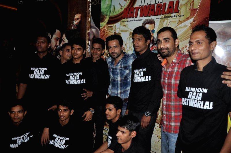 Actor Emraan Hashmi during the promotion of the upcoming film Raja Natwarlal in Mumbai, on August 9, 2014. - Emraan Hashmi
