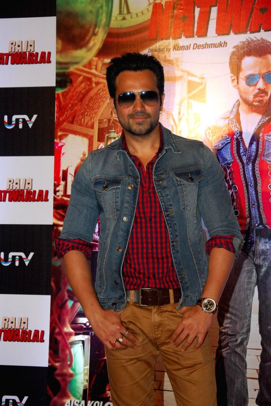 Actor Emraan Hashmi during the trailer launch of film Raja Natwarlal in Mumbai on July 18, 2014. - Emraan Hashmi