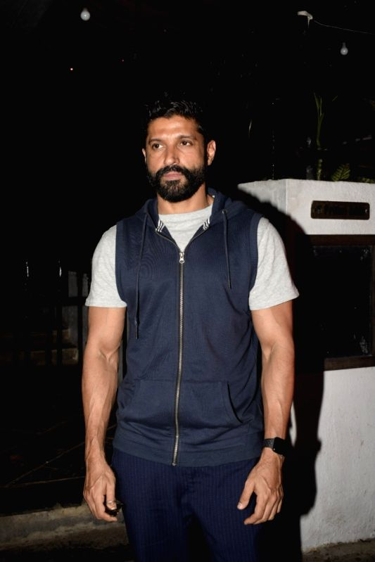Actor Farhan Akhtar at Kaifi Azmi's centenary celebrations in Mumbai on Jan 10, 2019. - Farhan Akhtar