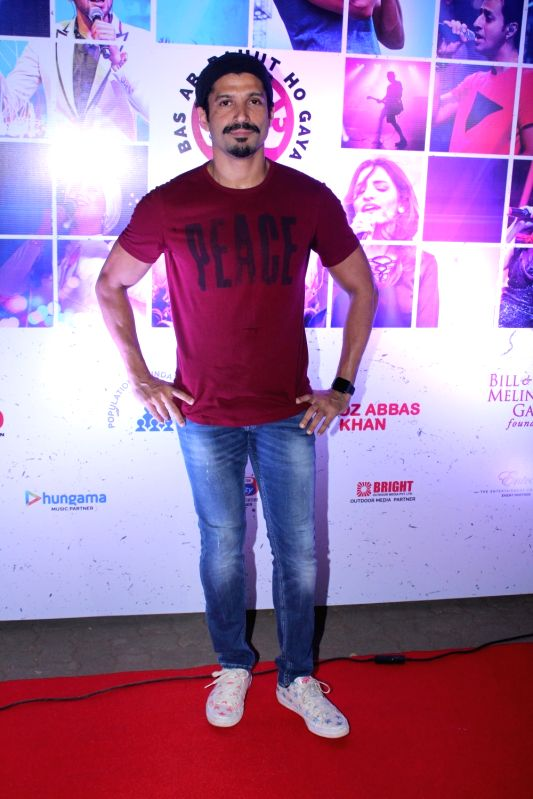 Actor Farhan Akhtar at the red carpet of Lalkaar concert in Mumbai on Nov 21, 2017. - Farhan Akhtar