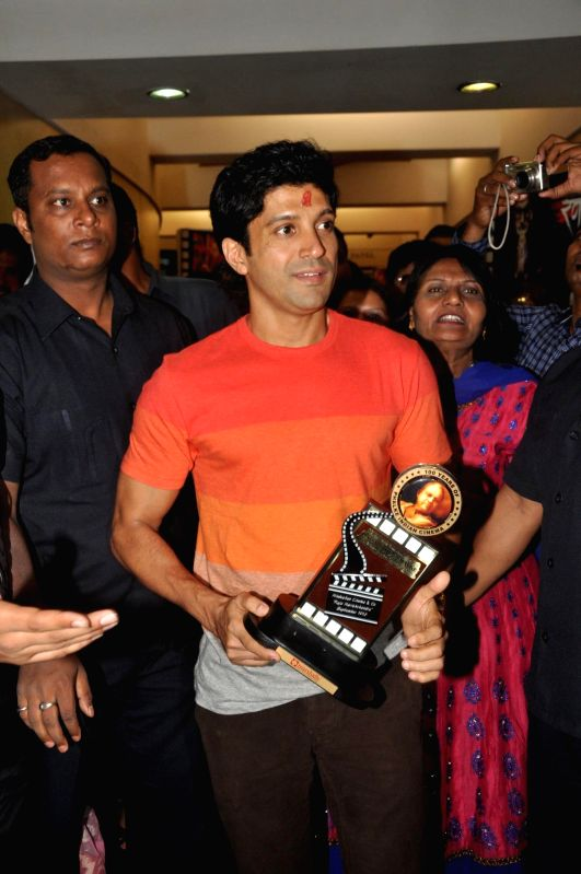 Actor Farhan Akhtar during the 145th Dadasaheb Phalke Awards ceremony in Mumbai on April 30, 2014. - Farhan Akhtar