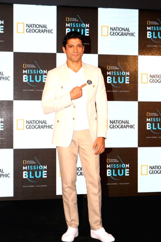 Actor Farhan Akhtar during the launch of  National Geographic event in Mumbai on  April 21, 2017. - Farhan Akhtar