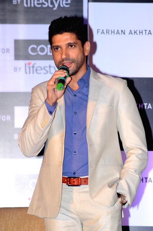 Actor Farhan Akhtar to endorse code by Lifestyle announces as their brand ambassador in Mumbai on 18th March 2015