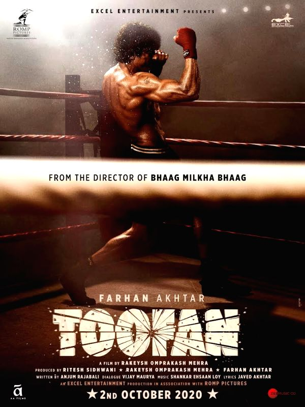 """Actor Farhan Akhtar took social media by storm when he posted the first look of his forthcoming film """"Toofan"""", directed by Rakeysh Omprakash Mehra."""