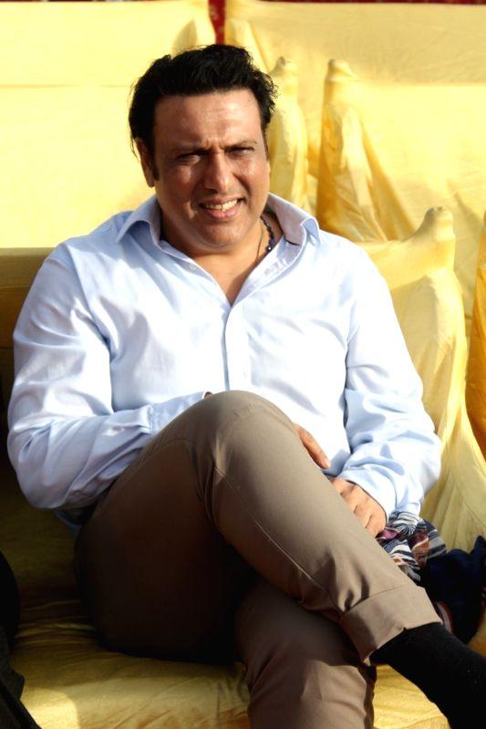 Actor Govinda during a program to celebrate world environment day organized by Bhamla Foundation and MCGM in Mumbai, on June 5, 2017. - Govinda