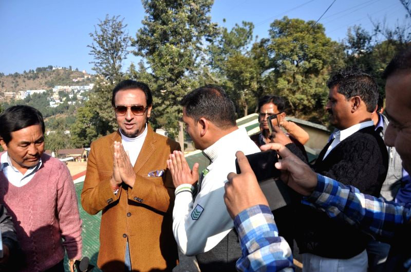 Actor Gulshan Grover during shooting of his upcoming film in Chamba, of Uttarakhand on Nov 29, 2015.