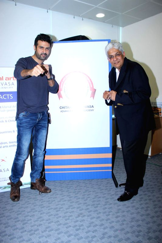 Actor Harman Baweja during the launch of `Cheetah JKD LAVASA – Advance Module Academy`. These are courses for the Martial Art enthusiasts at the Lavasa Hill city, in Mumbai on Monday, April 14, ...