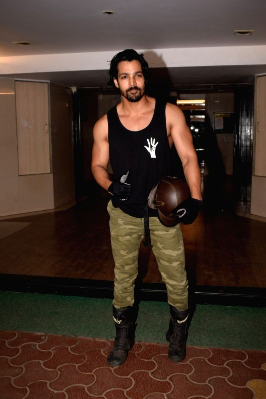 "Actor Harshvardhan Rane at the wrap up party of film ""Paltan"" hosted by actor Sonu Sood in Mumbai on Jan 29, 2018. - Harshvardhan Rane"