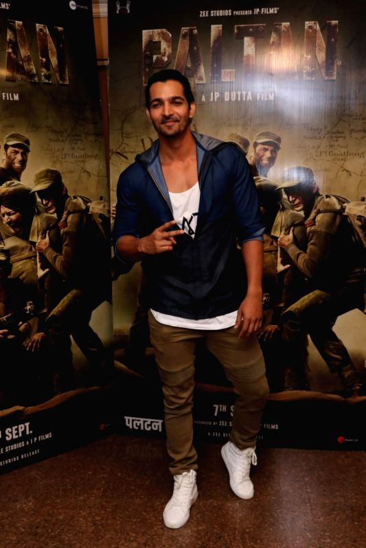 "Actor Harshvardhan Rane during the promotion of his upcoming film ""Paltan"" in Mumbai on Aug 10, 2018. - Harshvardhan Rane"