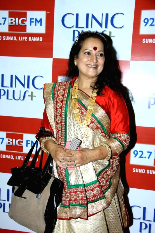 Actor Himani Shivpuri during the launch of Maa Ke Aanchal Mein - Radio Ki Pehli Picture by BIG FM & Clinic Plus in Mumbai on May 09, 2014. - Himani Shivpuri