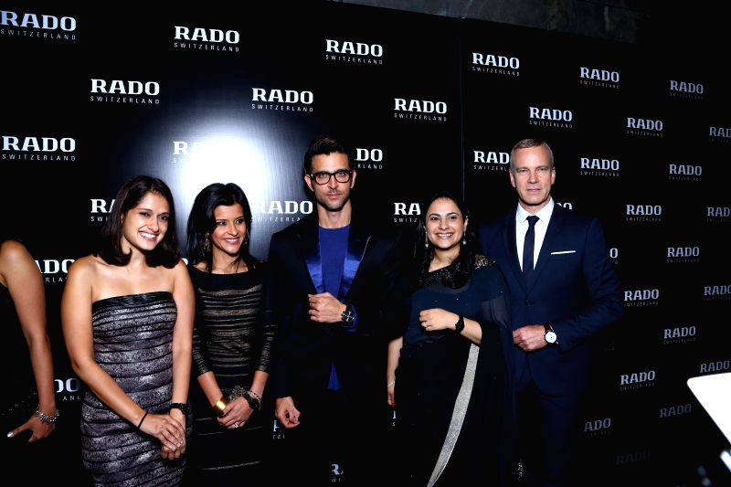 Actor Hrithik Roshan and RADO CEO Matthias Breschan at the launch of RADO's `DiaMaster Ceramic Collection` in New Delhi on Aug 27, 2014. - Hrithik Roshan
